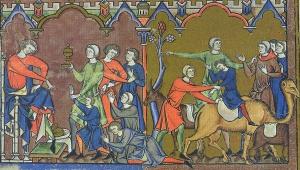 Joseph and his brothers reunited in Morgan Bible c. 1250